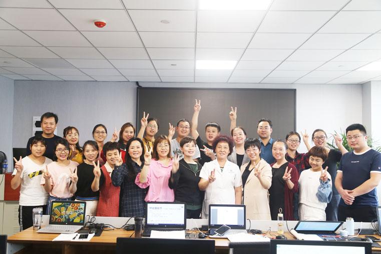 第18期TMT医用红外热像仪评估师与王慧娟专家合影